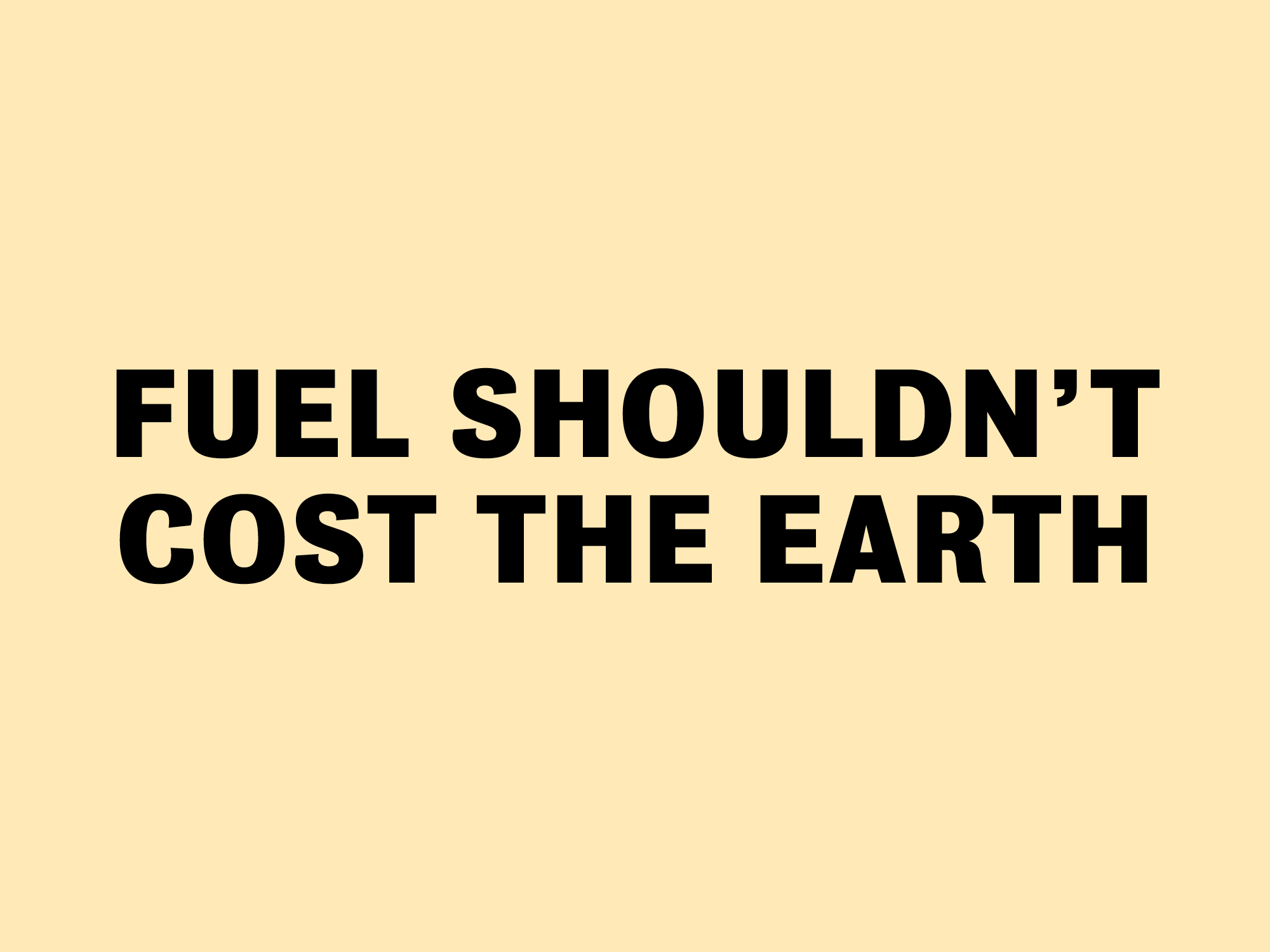 ON EARTH DAY, WE WANT TO TALK ABOUT FUEL POVERTY.